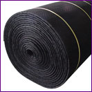 A roll of rubber flooring